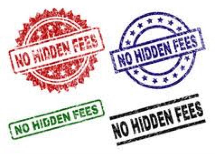no fees